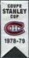 2008/09 Upper Deck Montreal Canadiens Mini Banners 1978-79 Stanley Cup