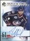 2008/09 Upper Deck SP Authentic Sign of the Times #STRN Rick Nash Auto