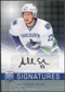 2008/09 Upper Deck Be A Player Signatures #SAE Alexander Edler Autograph