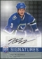 2008/09 Upper Deck Be A Player Signatures #SBI Kevin Bieksa Autograph