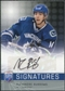 2008/09 Upper Deck Be A Player Signatures #SBU Alexandre Burrows Autograph
