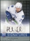 2008/09 Upper Deck Be A Player Signatures #SHS Henrik Sedin Autograph