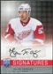 2008/09 Upper Deck Be A Player Signatures #SJF Johan Franzen Autograph