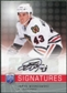 2008/09 Upper Deck Be A Player Signatures #SJW James Wisniewski Autograph