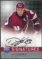 2008/09 Upper Deck Be A Player Signatures #SMO Derek Morris Autograph