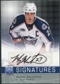 2008/09 Upper Deck Be A Player Signatures #SMY Manny Malhotra Autograph