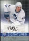 2008/09 Upper Deck Be A Player Signatures #SST Matt Stajan Autograph