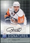 2008/09 Upper Deck Be A Player Signatures #STA Jeff Tambellini Autograph