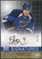 2008/09 Upper Deck Be A Player Signatures Player's Club #SEB Eric Brewer Autograph /15