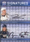 2008/09 Upper Deck Be A Player Signatures Dual #S2SW Shea Weber / Ryan Suter Autograph