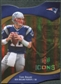 2009 Upper Deck Icons Gold Holofoil Die Cut #52 Tom Brady /75