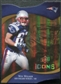 2009 Upper Deck Icons Gold Holofoil Die Cut #54 Wes Welker /75