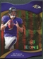 2009 Upper Deck Icons Gold Holofoil Die Cut #74 Joe Flacco /75