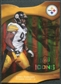 2009 Upper Deck Icons Gold Holofoil Die Cut #86 James Harrison /75