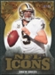 2009 Upper Deck Icons NFL Icons Die Cut #ICBR Drew Brees /40