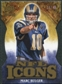 2009 Upper Deck Icons NFL Icons Die Cut #ICMB Marc Bulger /40