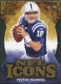 2009 Upper Deck Icons NFL Icons Die Cut #ICPM Peyton Manning /40