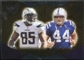 2009 Upper Deck Icons NFL Reflections Silver #RFGC Antonio Gates Dallas Clark /450