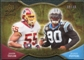 2009 Upper Deck Icons NFL Reflections Die Cut #RFTP Jason Taylor Julius Peppers /40
