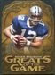 2009 Upper Deck Icons Greats of the Game Die Cut #GGRS Roger Staubach /40