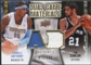 2009/10 Upper Deck Game Materials Dual Gold #DGDA Carmelo Anthony Tim Duncan /150