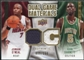 2009/10 Upper Deck Game Materials Dual Gold #DGGO Jermaine O'Neal Kevin Garnett /150
