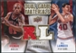 2009/10 Upper Deck Game Materials Dual Gold #DGLR Bill Laimbeer Dennis Rodman /150