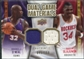 2009/10 Upper Deck Game Materials Dual Gold #DGOO Hakeem Olajuwon Shaquille O'Neal /150