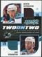 2009/10 Upper Deck MVP Two on Two Jerseys JMDTS Devin Setoguchi Joe Thornton Shane Doan Peter Mueller