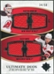 2010/11 Upper Deck Ultimate Collection Ultimate Jerseys Duos #UDJBP Zach Parise Martin Brodeur /50