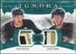 2011/12 Upper Deck Artifacts Tundra Tandems Patches Emerald #TT2PG Ryan Getzlaf / Corey Perry /50
