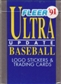1991 Fleer Ultra Update Baseball Factory Set