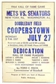 1964 Cooperstown Hall of Fame Induction Framed Poster (Senators vs. Mets)
