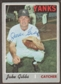 1970 Topps Baseball #594 Jake Gibbs Signed in Person Auto