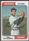 1974 Topps Baseball #186 Fred Scherman Signed in Person Auto