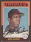 1975 Topps Baseball #657 Bob Oliver Signed in Person Auto (A)