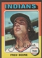 1975 Topps Baseball #181 Fred Beene Signed in Person Auto (B)