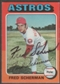 1975 Topps Baseball #525 Fred Scherman Signed in Person Auto (Black)
