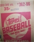 1986 Topps Baseball Wax 20-Box Case