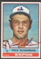 1976 Topps Baseball #188 Fred Scherman Signed in Person Auto (B)