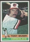 1976 Topps Baseball #537 Tony Muser Signed in Person Auto