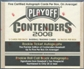 2008 Playoff Contenders Baseball Hobby Box