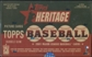 2001 Topps Heritage Baseball Retail 24 Pack Box