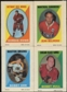 1970/71 Topps / O-Pee-Chee Hockey Sticker Stamps Complete Set