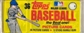 1983 Topps Baseball Grocery Rack Pack