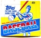 1984 Topps Baseball Cello Box