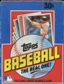 1982 Topps Baseball Wax Box