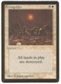 Magic the Gathering Beta Single Armageddon MODERATE PLAY (VG/EX)