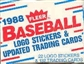 1988 Fleer Update Baseball Factory Set