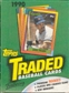 1990 Topps Traded & Rookies Baseball Wax Box